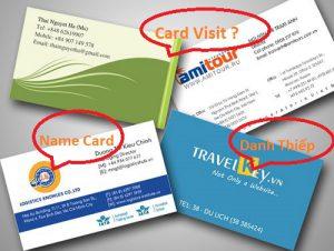 Card Visit, Name Card Hay Danh Thiếp
