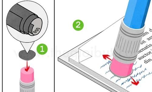 cách Tẩy mực bút bi bằng giấy nhám