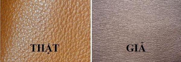 Cách phân biệt da bò thật và fake