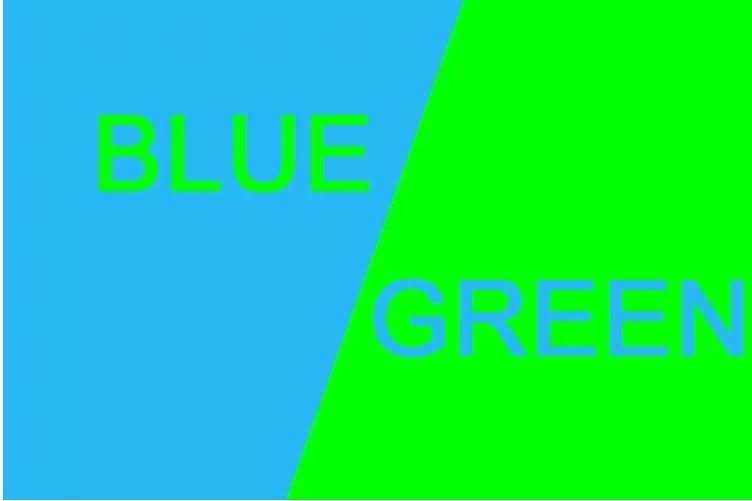 Ý nghĩa màu xanh lá và xanh dương