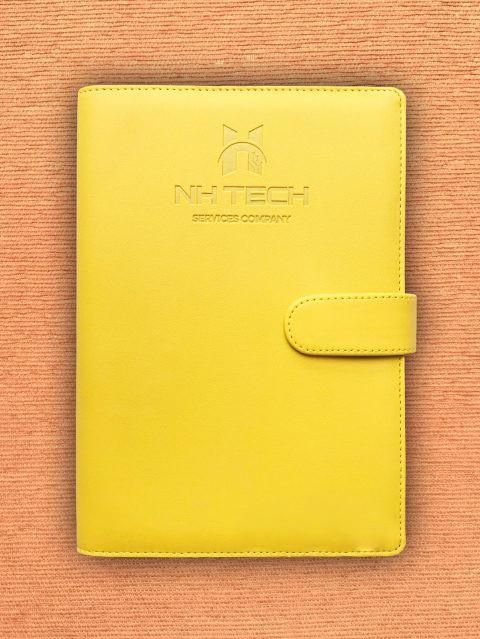 Sổ tay da in logo NHTech