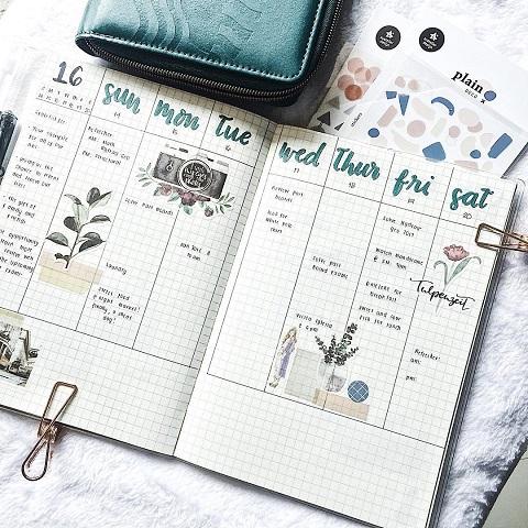 Cách làm bảng kế hoạch làm việc tuần bằng sổ planner