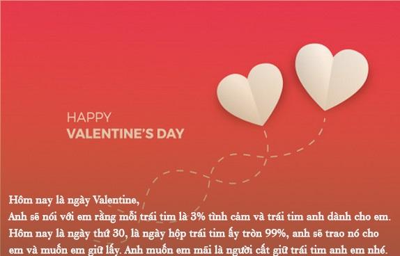 tin nhắn Valentine 3