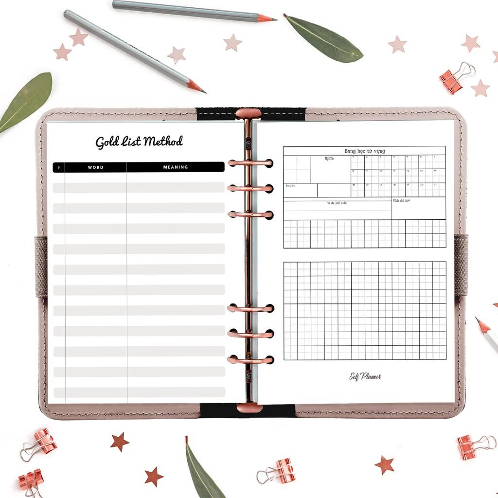 Sổ Tay ghi chép Weekly Planner Bìa Da A5