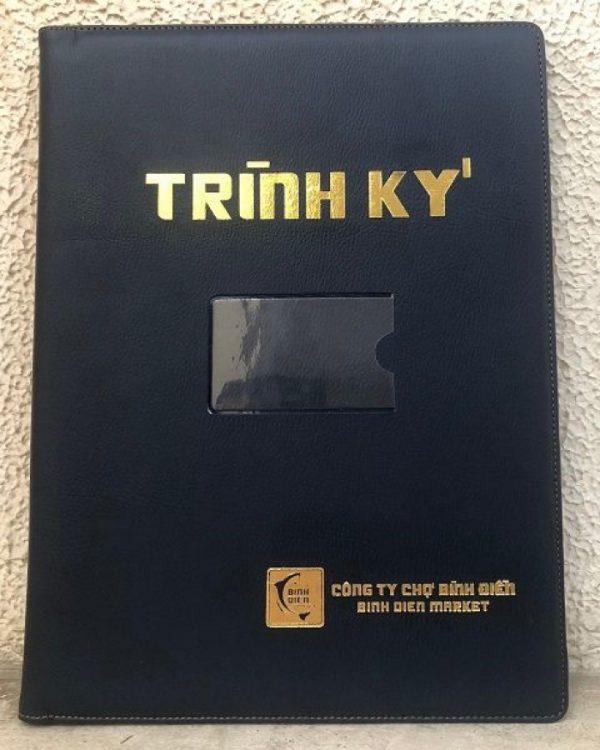 Bìa Trình Ký Đôi Da Pu TK06