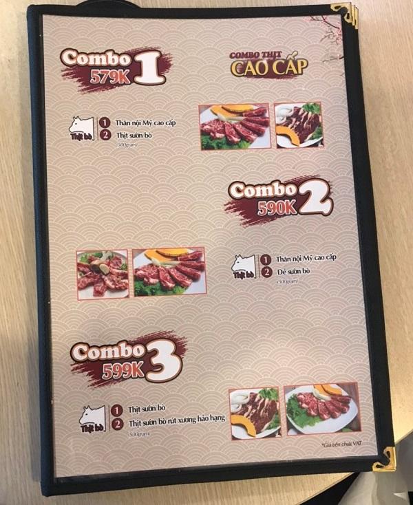 Bìa menu nhà hàng ép bóng kính