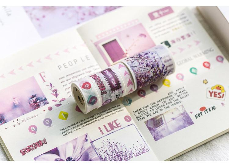 Trang trí sổ tay cute bằng washi tape