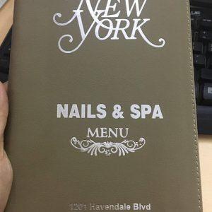Bìa menu nhà hàng spa