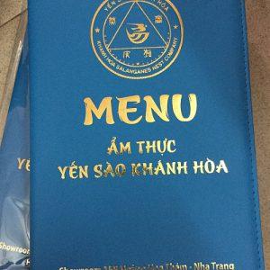 Bìa menu da nhà hàng yến sào