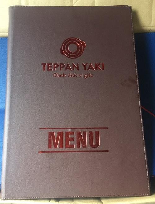 Bìa menu da nhà hàng nhật bản