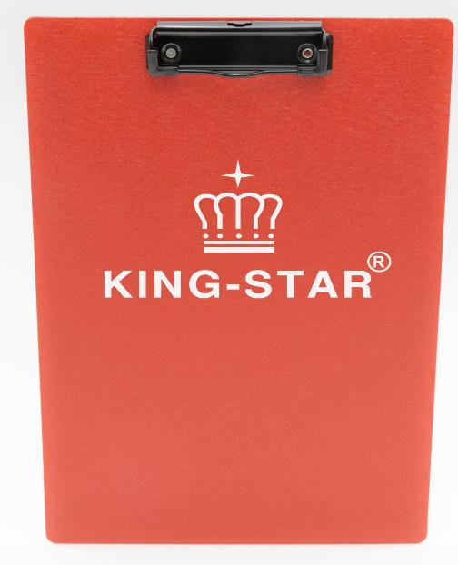 bìa trinh ký nhựa đơn in logo king-star